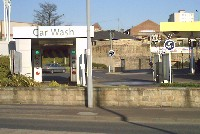 Car Wash installation, with signs saying Car Wash and Jet Wash
